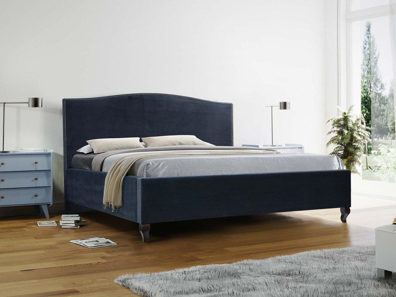 Łóżko tapicerowane z podnoszonym stelażem