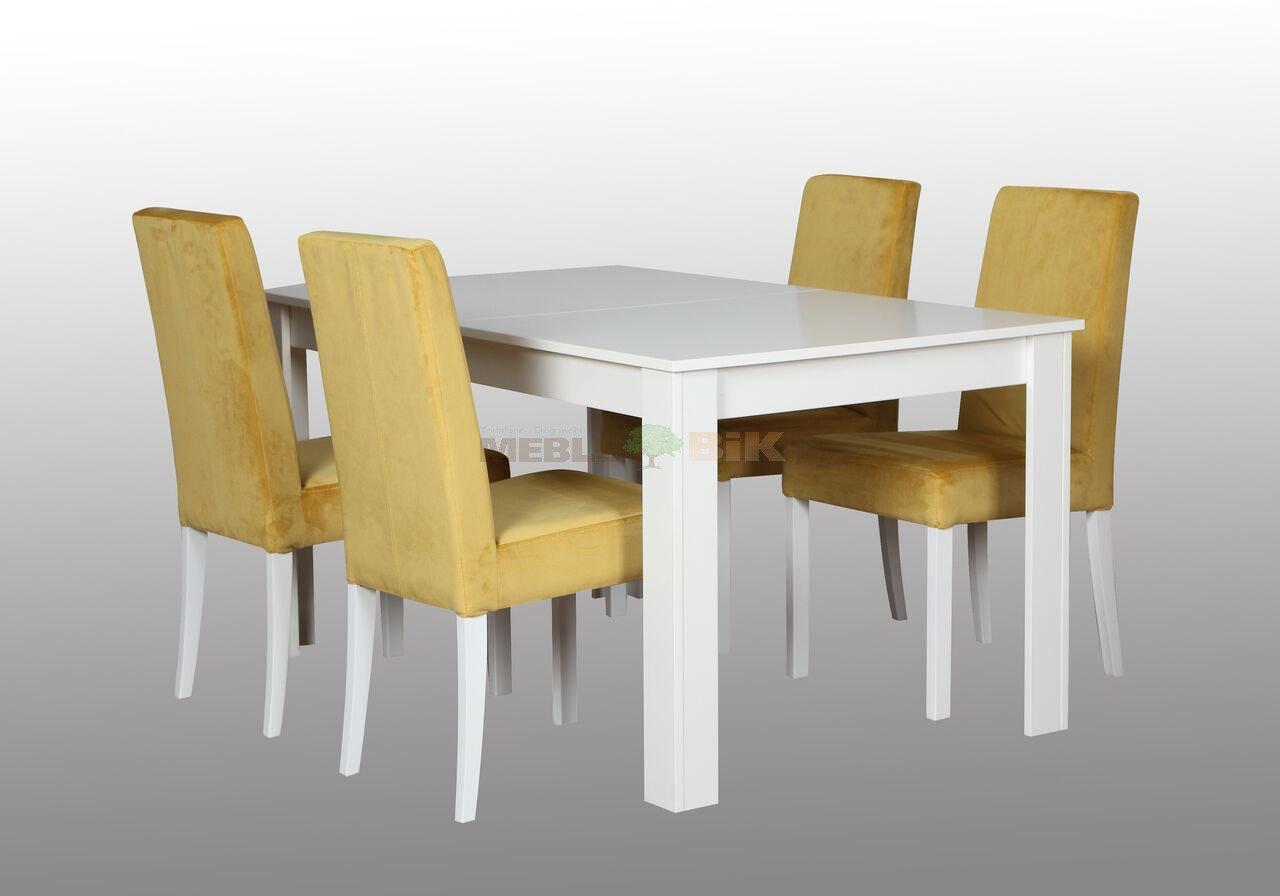 Stół Do Jadalni Lub Salonu Biały Z Krzesłami