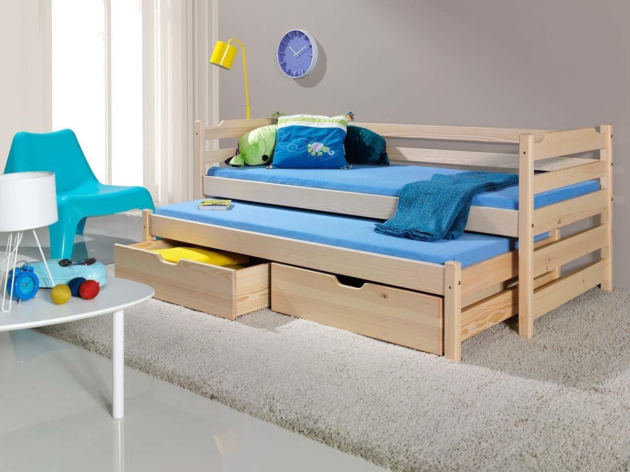 łóżko Marcin Piętrowe Niskie 2 Osobowe Z Materacami