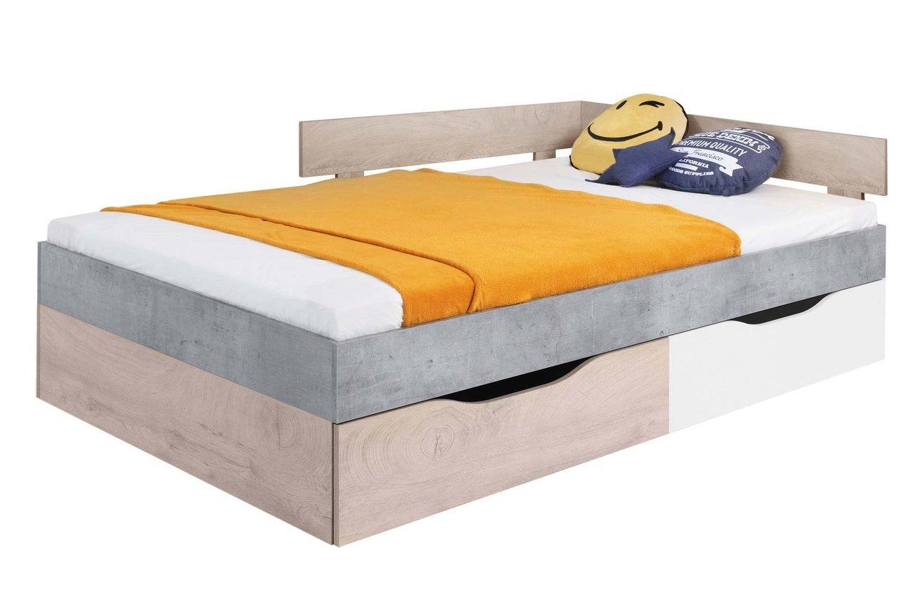 łóżko Sigma 16 Młodzieżowe Z Pojemnikiem Na Pościel 120x200