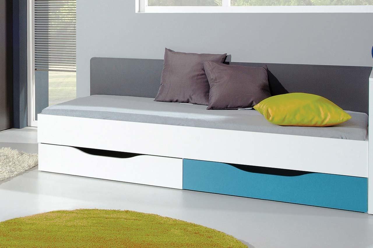 łóżko Tablo Młodzieżowe 90x200 Z Szufladami Na Pościel