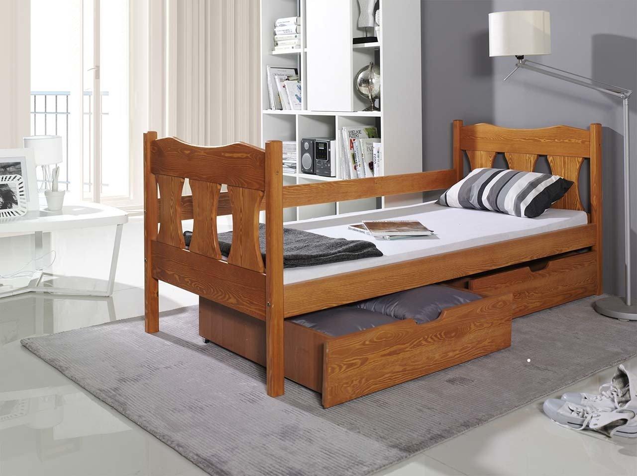 łóżko Verona 1 Osobowe Dla Dziecka Z Szufladami