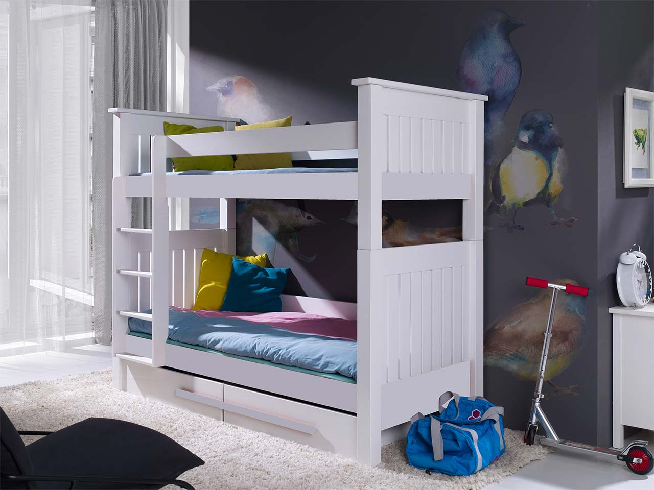 łóżko Piętrowe 2 Osobowe Casimir Do Pokoju Młodzieżowego