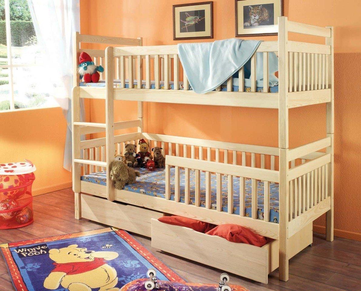 łóżko Piętrowe 2 Osobowe Do Pokoju Dzieci Aleksander