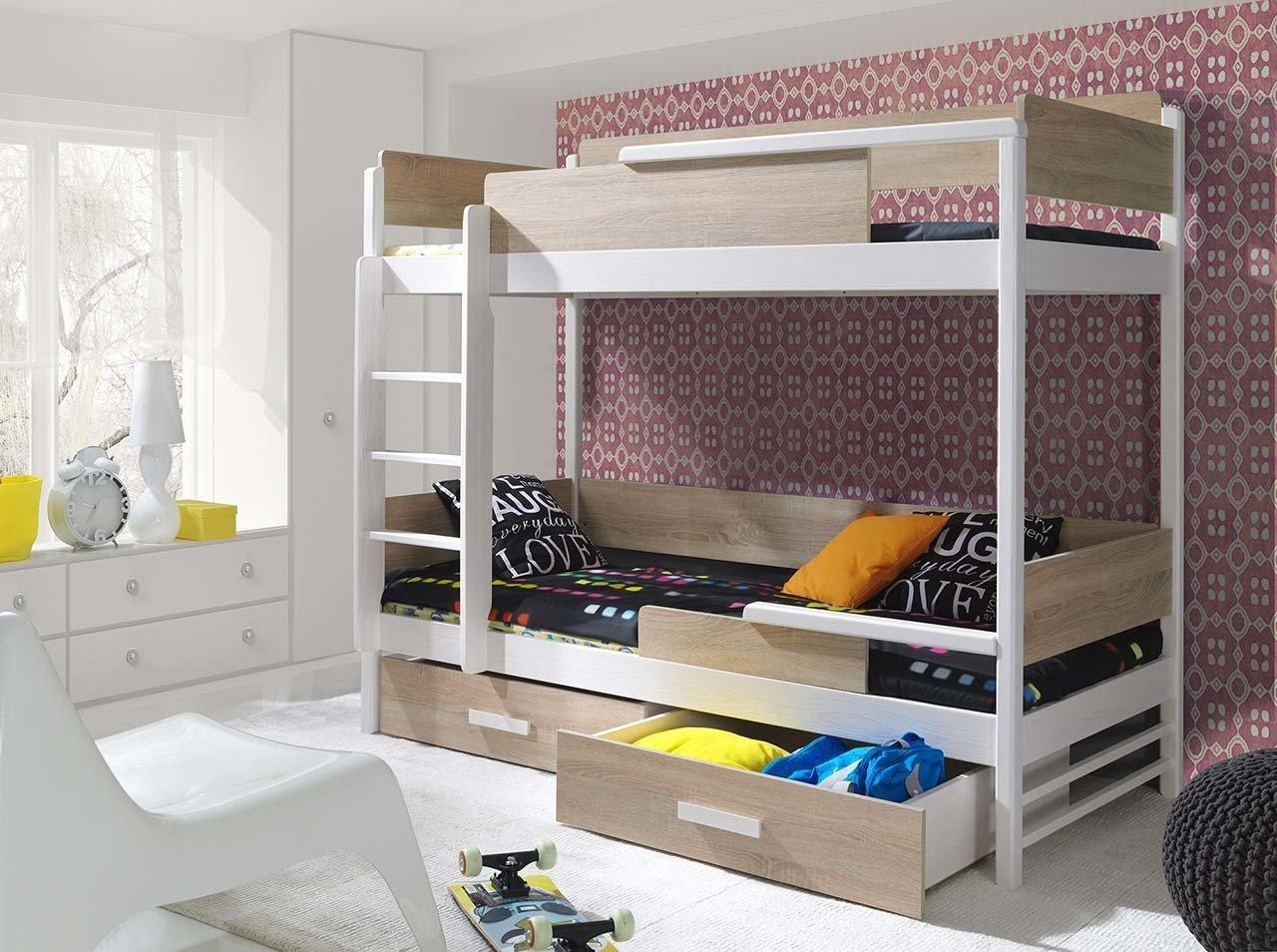 łóżko Piętrowe Tres 2 Osobowe Do Pokoju Młodzieżowego
