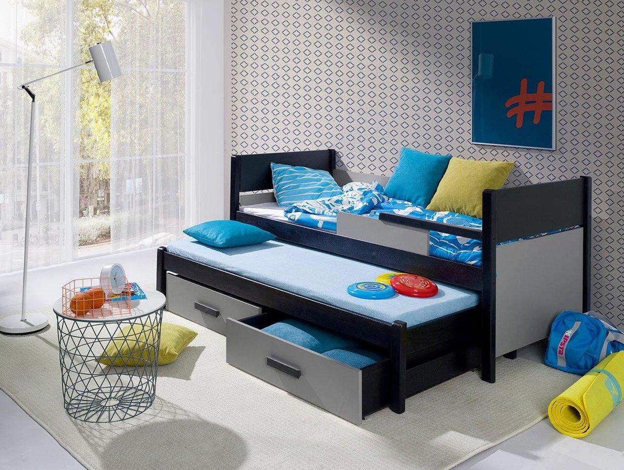 łóżko Piętrowe Niskie 2 Osobowe Do Pokoju Młodzieżowego Danilo Z Materacami