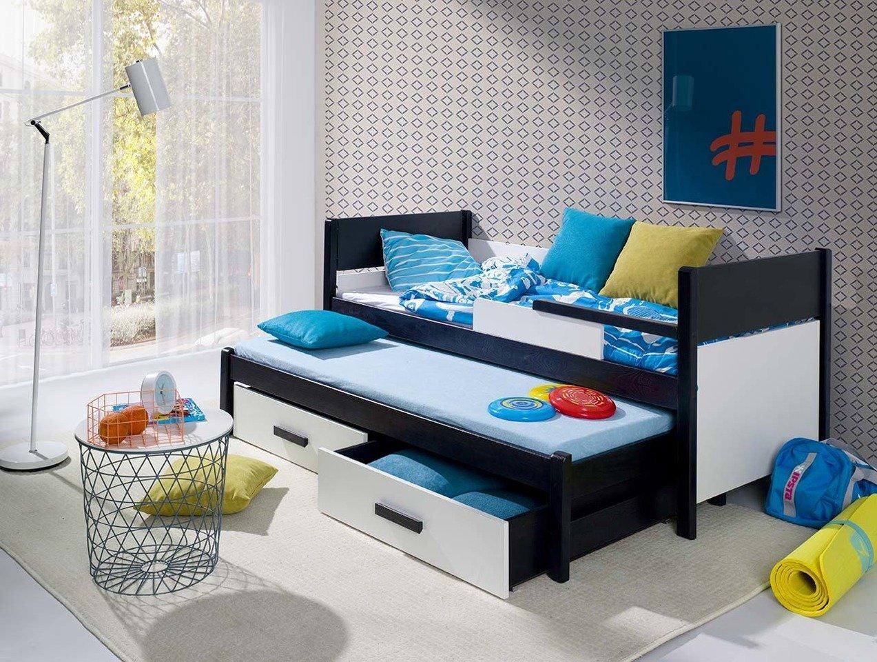 łóżko Piętrowe Niskie 2 Osobowe Do Pokoju Młodzieżowego Danilo Z