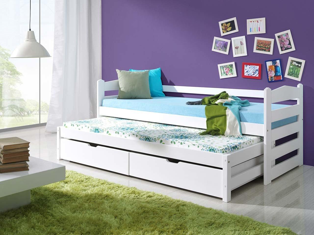 łóżko Podwójne Mili Do Pokoju Młodzieżowego Lub Dziecka Z Materacem