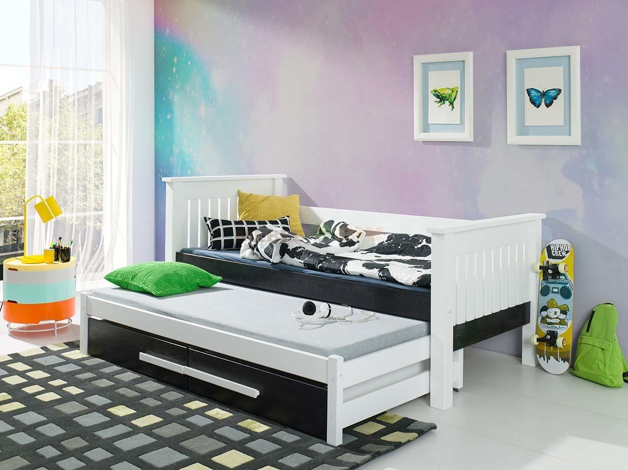 łóżko Podwójne Telmo Do Pokoju Młodzieżowego Lub Dziecka Z Materacami