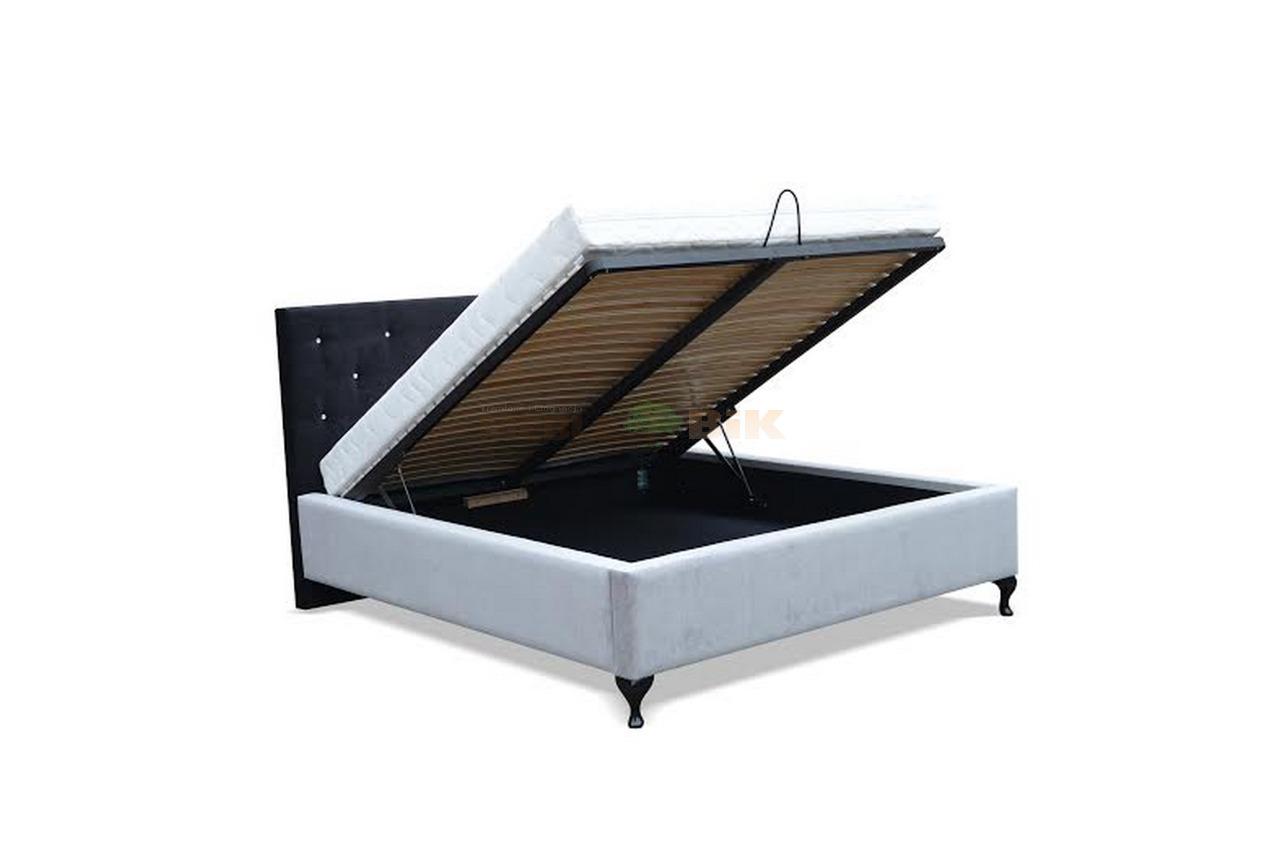 łóżko Tapicerowane 3 Do Sypialni Z Stelażem