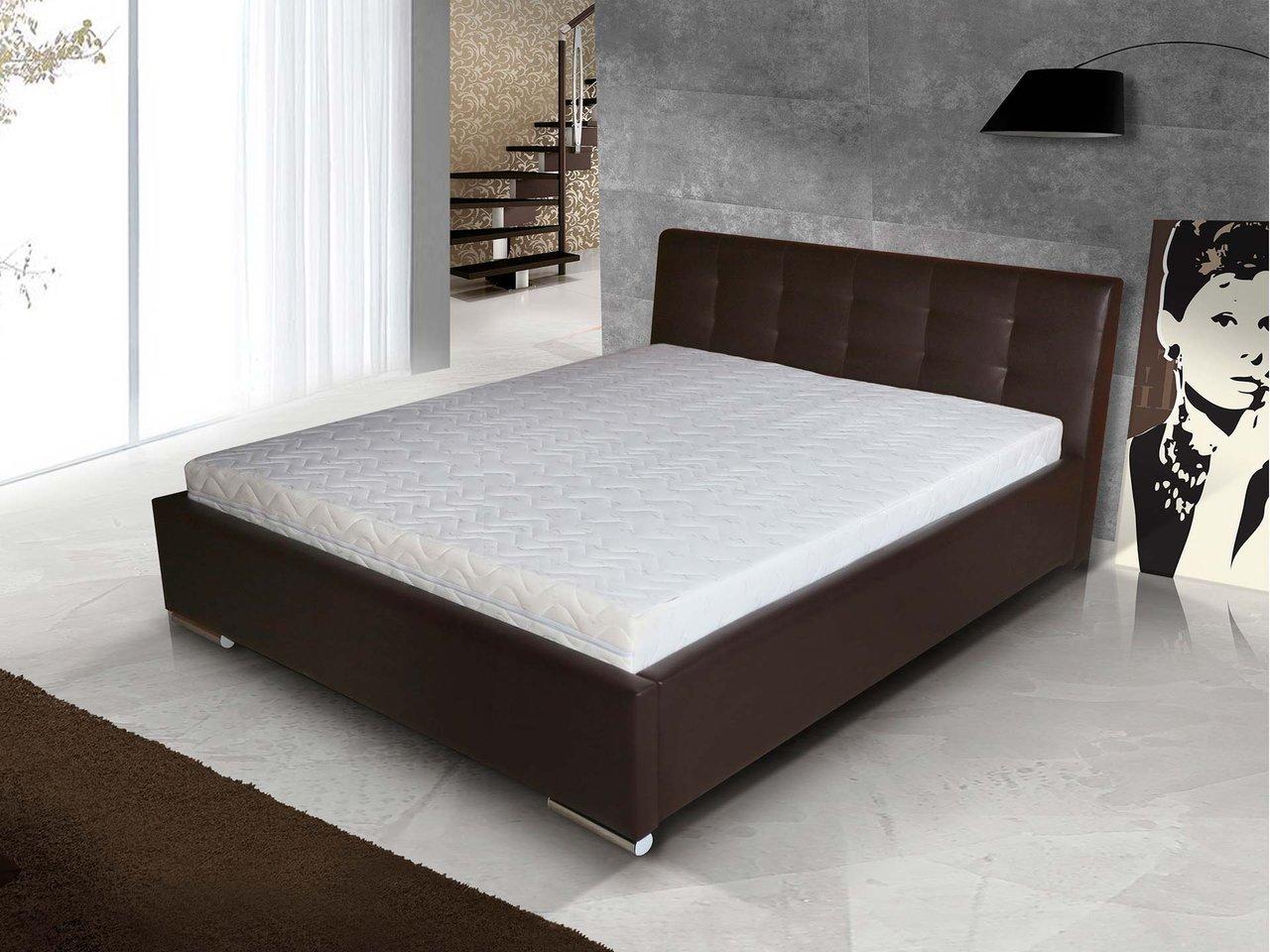 łóżko Tapicerowane 7 Do Sypialni Z Stelażem