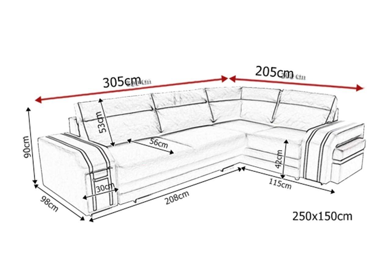 naro nik avatar rozk adany z barkiem i puf do salonu kinas sklep meblowy meble bik. Black Bedroom Furniture Sets. Home Design Ideas