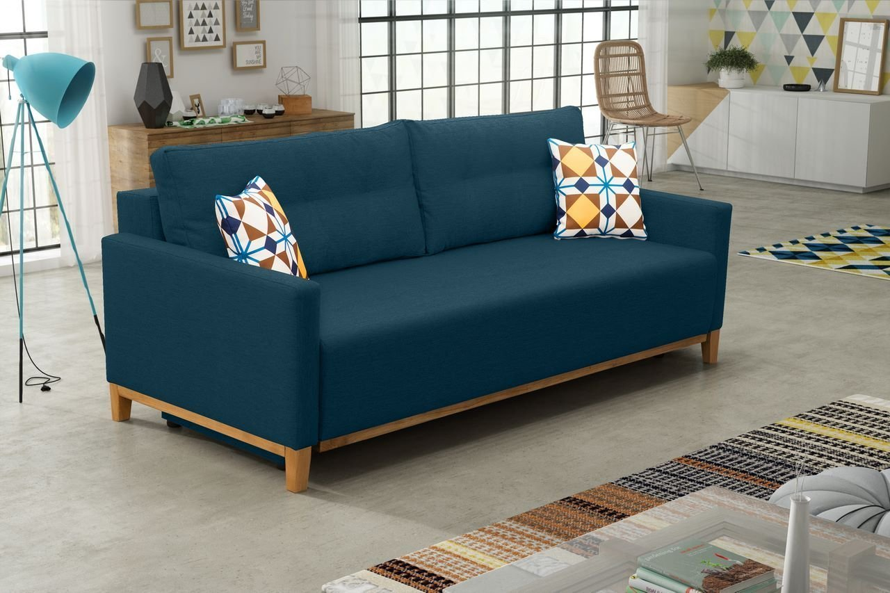 Sofa Rozkładana Do Salonu Ariel Drewniane Nóżki Promocja Styl