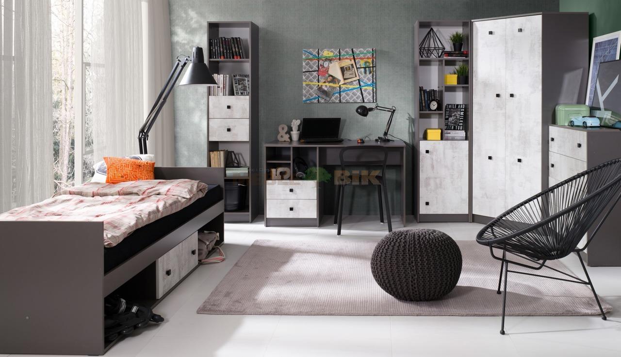 Sypialnia młodzieżowa Tommy z szafą narożną - JUREK - sklep meblowy Meble BIK