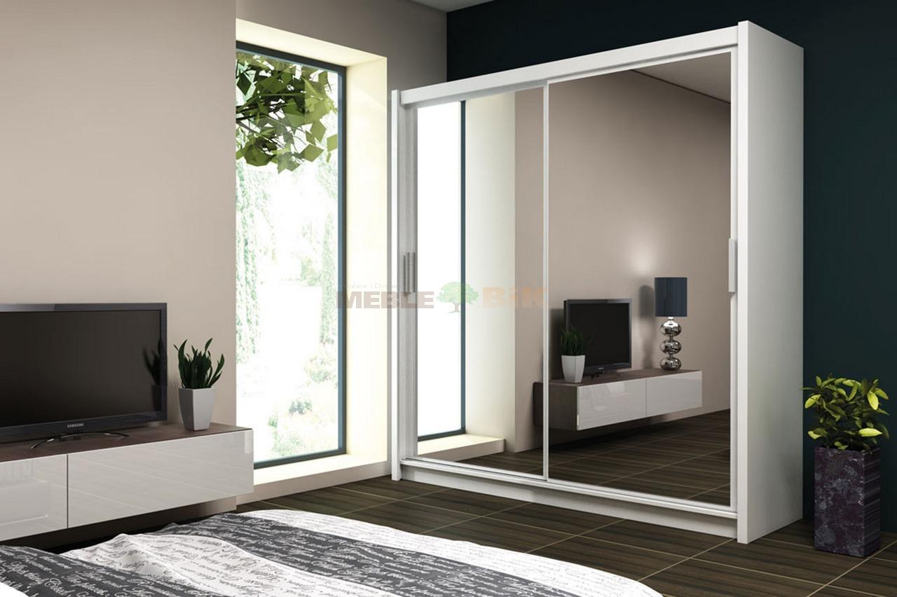 szafa paris 203 z lustrem drzwi przesuwne stolar sklep meblowy meble bik. Black Bedroom Furniture Sets. Home Design Ideas