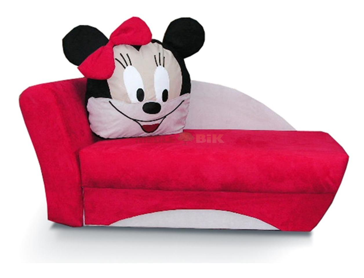 Tapczanik Dla Dziecka Rozkładany Poduszka Miki